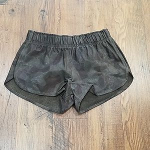 Rails dani camo leather shorts